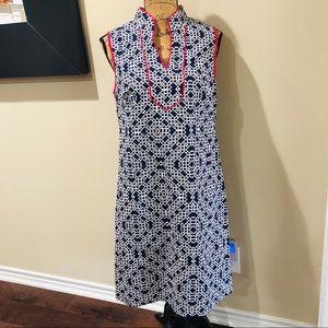 Jessica Howard Navy Moroccan Print Dress Size 12